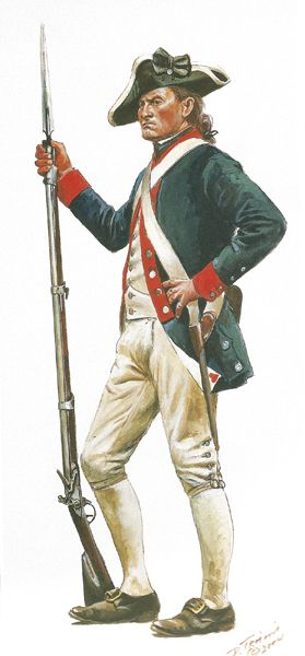 Continental Infantry Pprivate of the 3rd New York Regiment, by Don Troiani. (www.dontroiani.com)