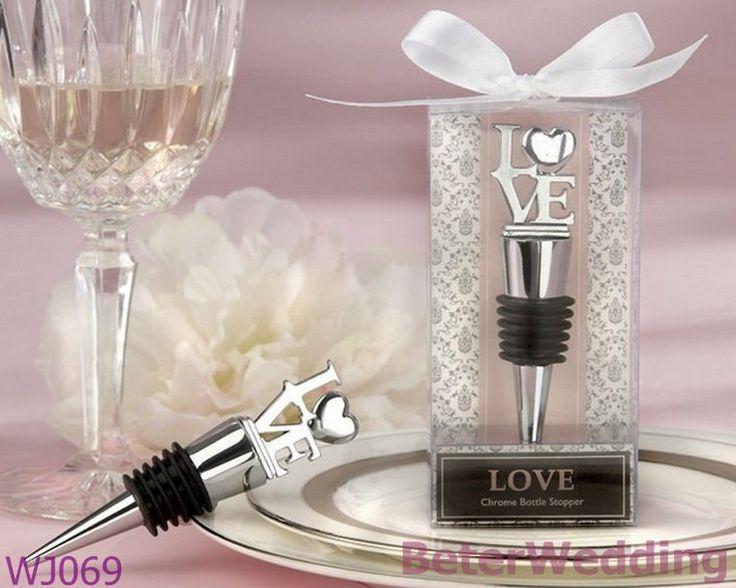 Tapónes del vino del diseño de WJ069_L-O-V-E usados como Wedding el favor de Gift_Wedding Souvenir_BeterWedding