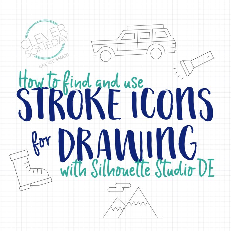 Stroke icons to sketch files in Silhouette Studio DE