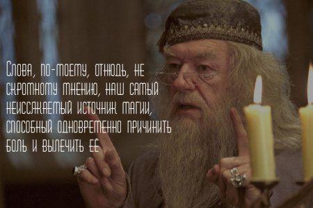 Уроки жизни: цитаты, высказывания (Альбус Дамблдор)
