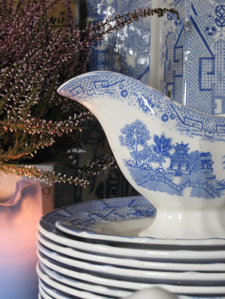 Old Willow Pattern from Egersund Norway.