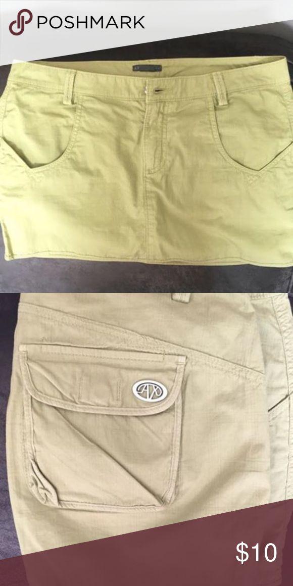 Armani Exchange skirt Beautiful green color! I LOVE this skirt, just too big now! Smoke free, pet free home. A/X Armani Exchange Skirts