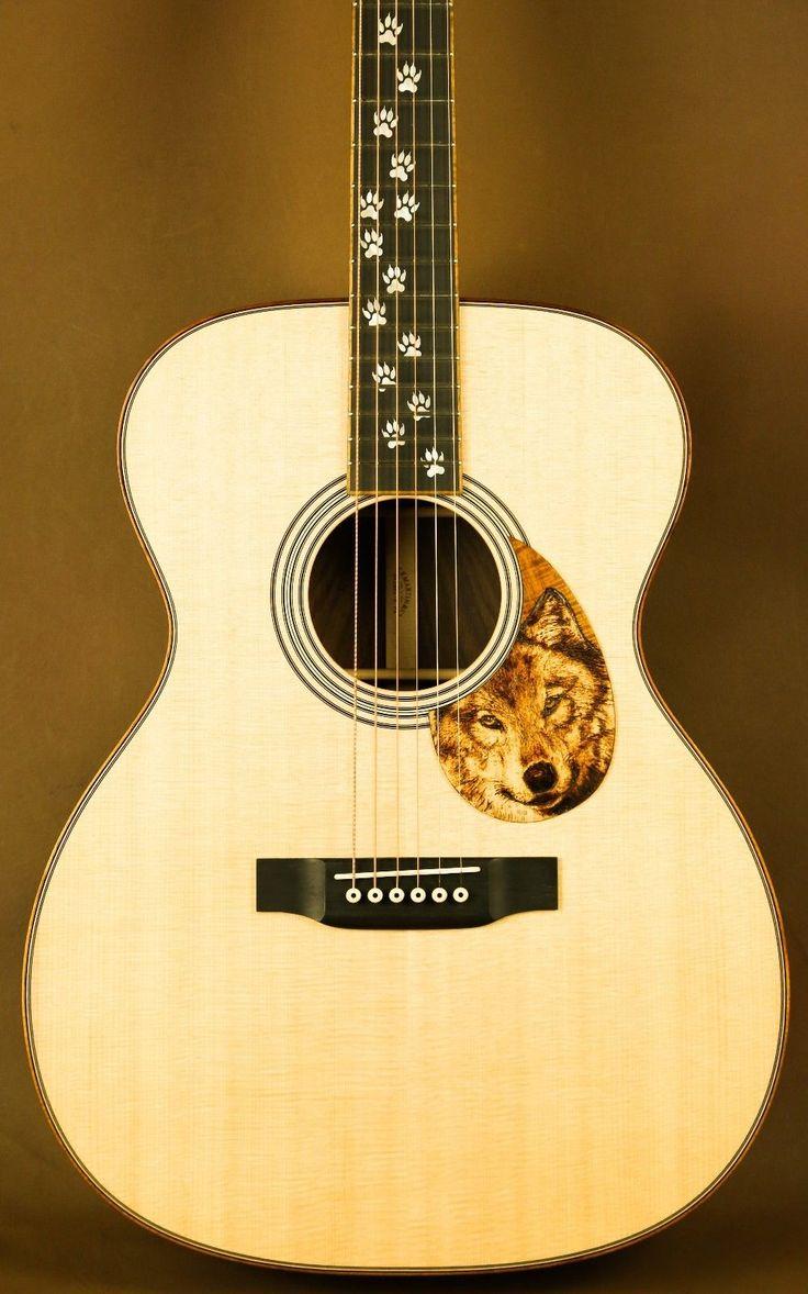 Martin OM-28 Wolf Custom Acoustic Guitar in Musical Instruments & Gear, Guitars & Basses, Acoustic Guitars   eBay