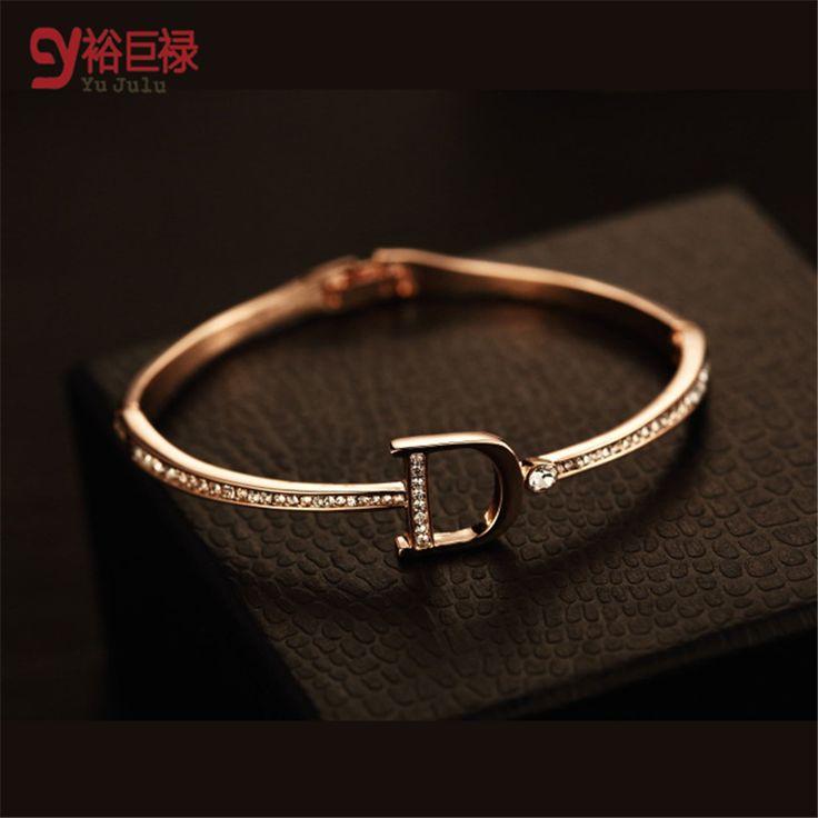 cool brand bracelets for women fashion big female plated with exquisite luxury Gold Bracelet extravagant brand letter D bracelets