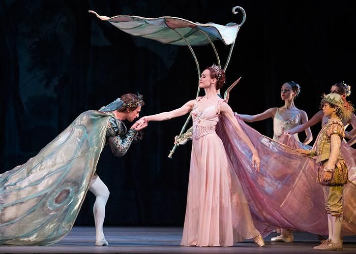 Uliana Lopatkina as Titania and Filip Stepin as Oberon in Balanchine's A Midsummer Night's Dream. Photo: Emma Kauldhar