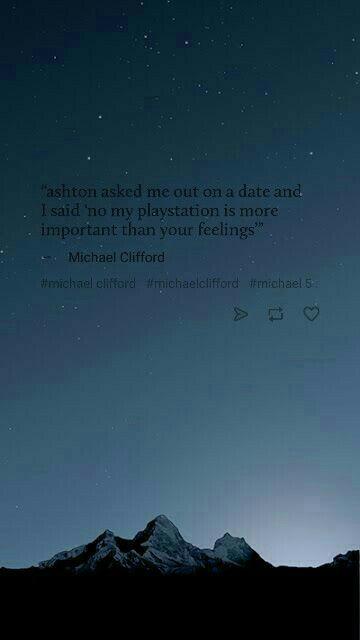 michael clifford quote 5sos wallpaper/ lockscreen