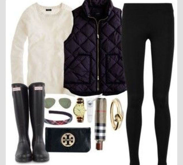38671bfd5f6 Perfect rainy fall day outfit   Fashion   Fashion, Hunter boots ...