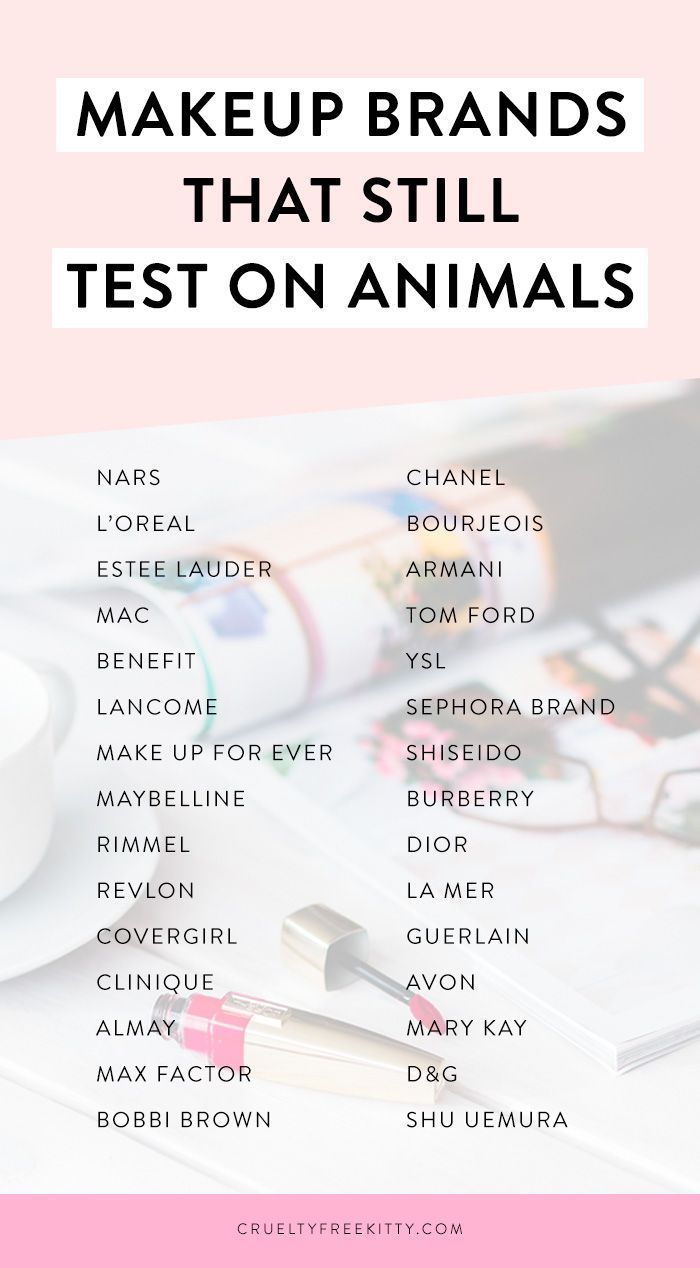 All these popular makeup brands test on animals! Whether it's their suppliers or funding animal testing in markets like China, they're NOT cruelty-free.