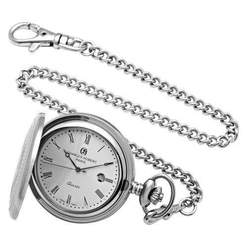 Charles-Hubert, Paris Stainless Steel Quartz Pocket Watch Charles-Hubert, Paris. Save 33 Off!. $110.00