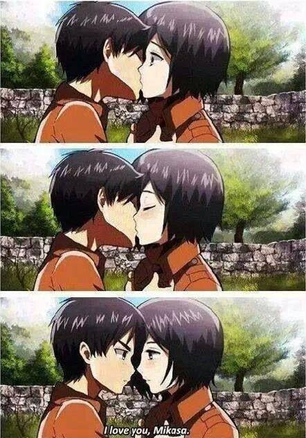 Mikasa x Eren - SNK Attack on Titan | Anime and Manga to the max! | Pinterest | Attack on Titan ...