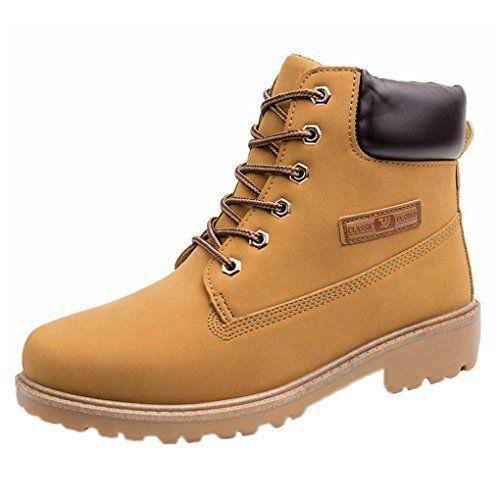 09b20deb7ee6f BESTOPPEN Mens Boots Black,Mens Winter Low Heel Ankle Boots Fur ...