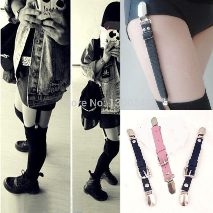 2015 Sexy moda Harajuku 100% hechos a mano del Punk Rock Clip pierna liguero para medias calcetines envío gratis minorista y mayorista en Ligas de Moda y Complementos Mujer en AliExpress.com | Alibaba Group
