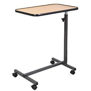 Overbed Laptop Food Tray Table Rolling Desk Hospital With Tilting Top #laptop #t...