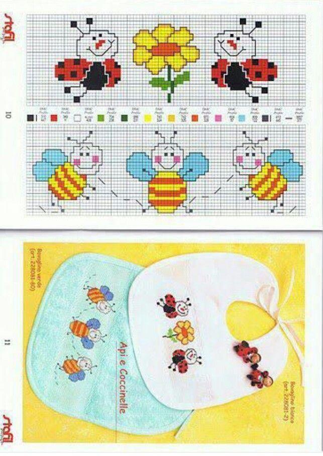 abejas y mariquitas
