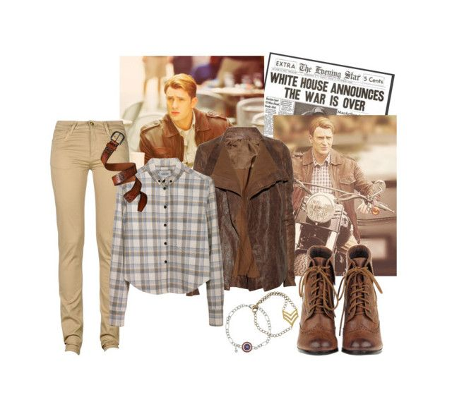 """steve rogers"" by pancake-waddles ❤ liked on Polyvore featuring Rick Owens, Monkee Genes, Rachel Comey and Gap"
