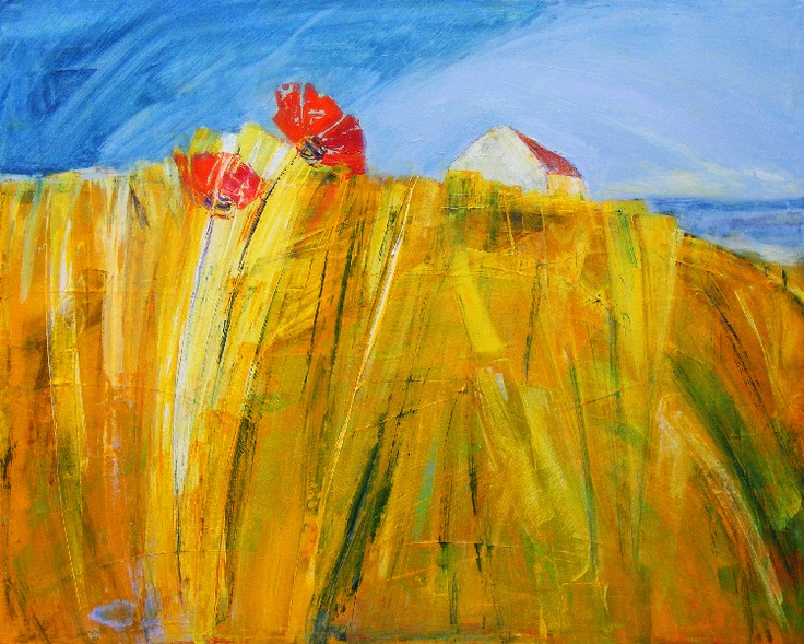 two poppies by Anne Butler