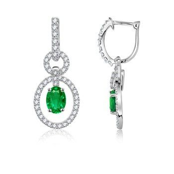 Angara Trillion Ruby and Diamond Leverback Earrings in Platinum IVY0ZRGaD