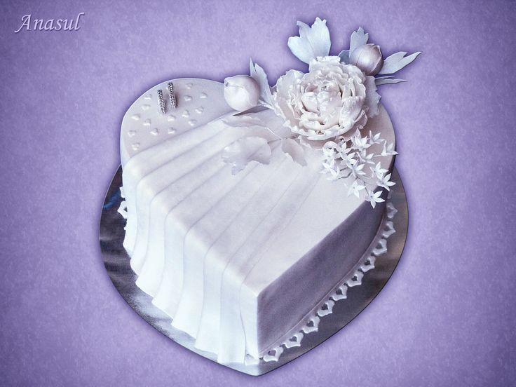 svadobné srdce s pivoniou
