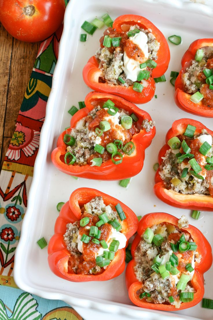 Southwestern Stuffed Bell Peppers via DeliciouslyOrganic.net #grainfree
