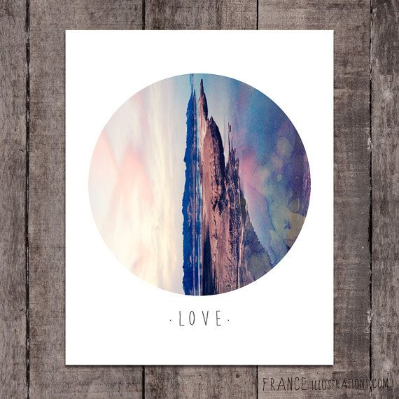 LOVE Wall Art /// Abstract Landscape Home by FRANCEillustration, $6.00