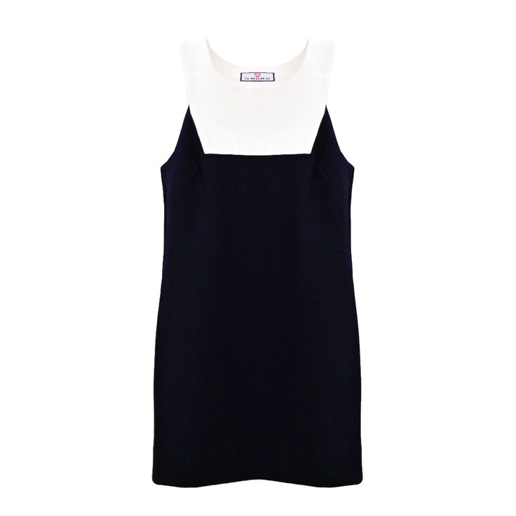 Sophia Navy & White Shift Dress