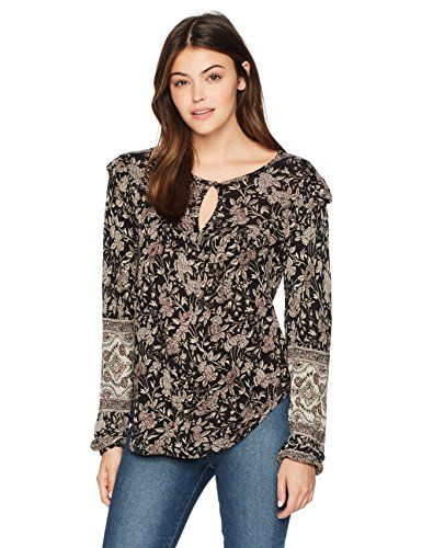4e2d93a3538139 The perfect Lucky Brand Women s Mixed Print Ruffle Top Women fashion Tops.    29.62 - 79.28  topbrandsclothing from top store
