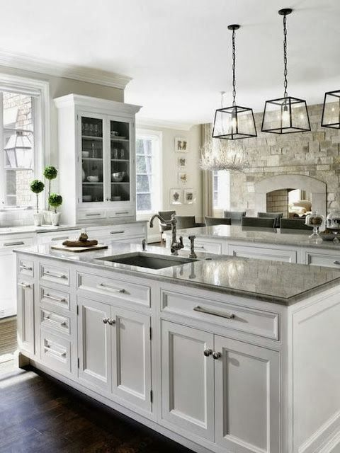 Love the pendants over this island. South Shore Decorating Blog: Weekend Roomspiration (#5)