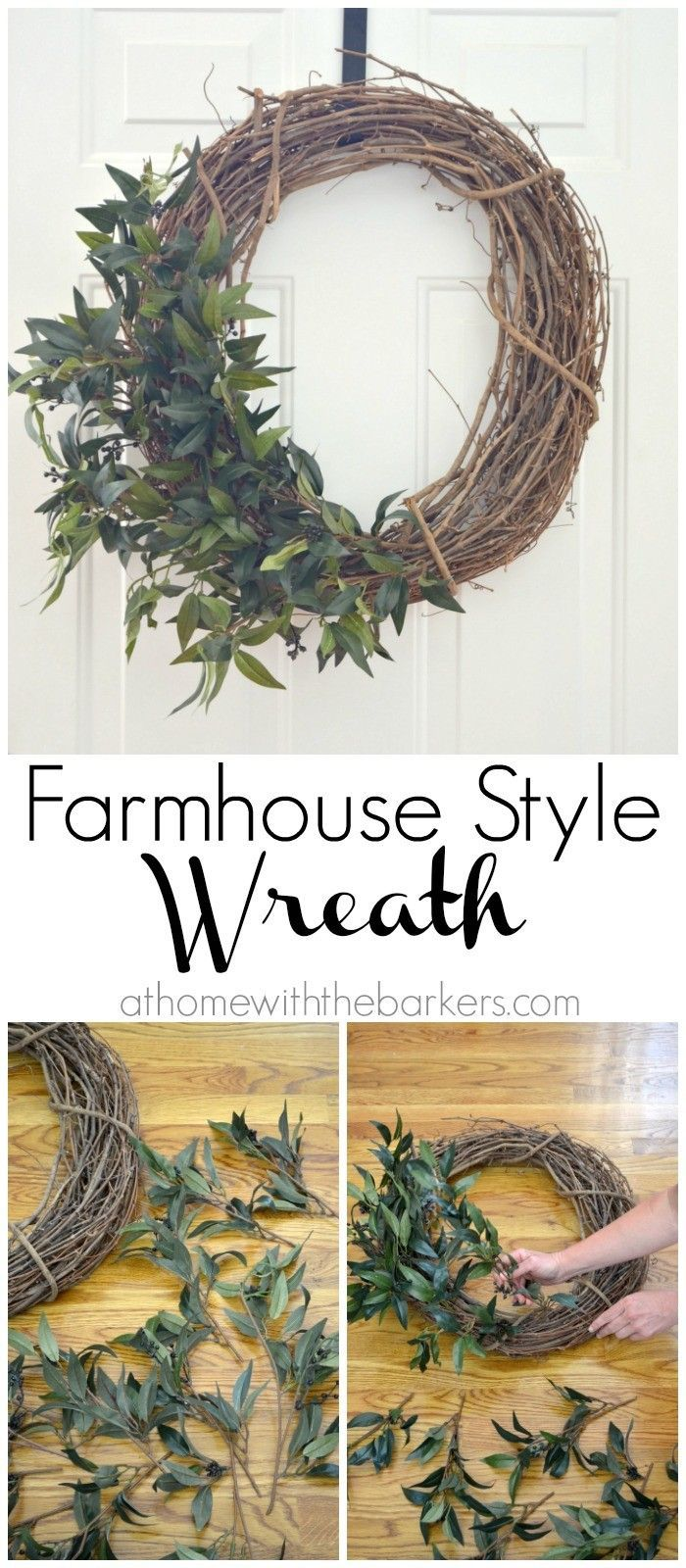DIY Farmhouse Style Wreath so easy you will want to make more!
