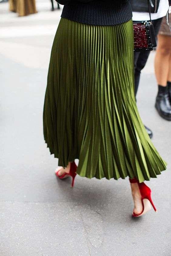 Abbinare le scarpe ad una gonna a pieghe  (Foto 10/40) | Shoes