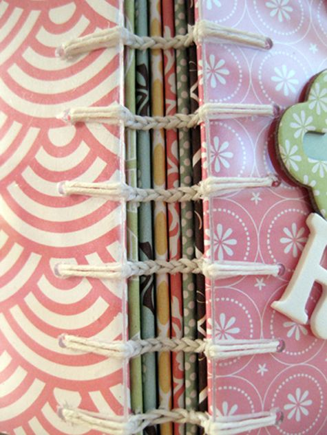 Encuadernación de libros   -   Link Stitch book binding (how-to at the bottom of page)