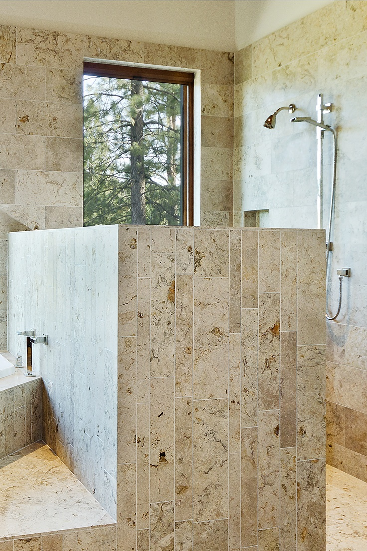 Contemporary Bathroom Using Natural Stone Natural Stone In Bathrooms Pinterest