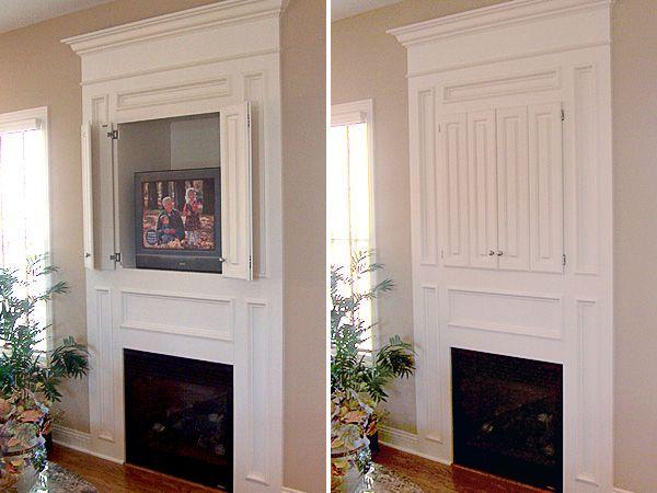24 best Hidden tv over fireplace images on Pinterest | Fireplace ...