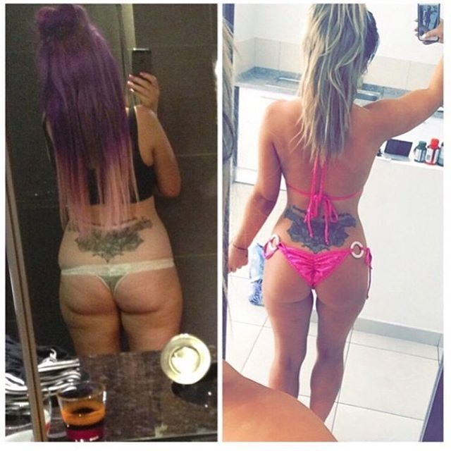 This is one of my fave before and after pics! It really shows how far I have come on my weight loss journey! I did this over a long period of time using a mixture of my two fat loss books, @hollysbodybible and lose 5 pounds. @hollysbodybible is a 12 week plan designed for prolonged weight loss while as lose 5 pounds is a quick fix if you need to lose weight quickly for an occasion. It is not designed to be used for any longer than 7 days at a time and has been approved by doctors! Both…