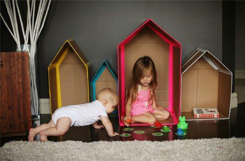 : Duct Tape, Cardboard House, Cardboard Plays House, Crafts Ideas, Cardboard Boxes, Diy Crafts, Handmade Charlotte, Diy Cardboard, Kids Rooms