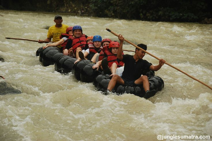 "Tubing ""Traditional Rafting"" is popular activity combination with jungle treking at jungle sumatra. It Fun and Nice Experience.. Start Your Adventure through us.. And Get Amazing Trek Searching Orangutan In their habitat."