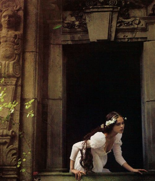 "Annie Leibovitz shoots Romeo and Juliet with Coco Rocha as Juliet in ""Love of a Lifetime"" for Vogue."