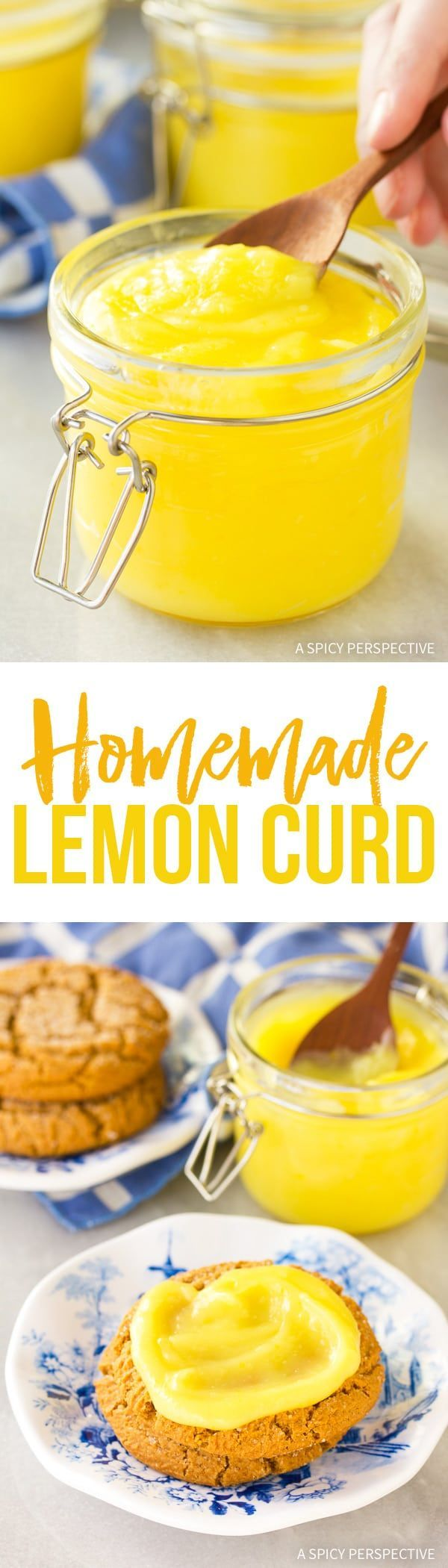 Perfect Homemade Lemon Curd Recipe - Silky zingy fresh lemon curd makes a marvelous topping for biscuits, toast, or cookies. So easy to make, you won't believe it! via @spicyperspectiv
