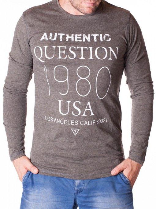Bluza barbati Question 1980 USA gri