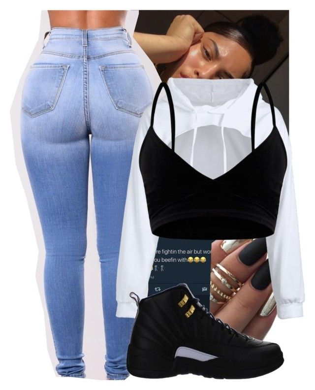 """""""Losin Control x Russ"""" by dopeboymagic ❤ liked on Polyvore featuring NIKE"""