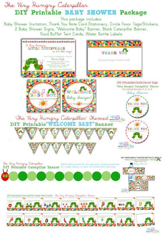 20 best hungry caterpillar baby shower images on pinterest | eric, Baby shower invitations