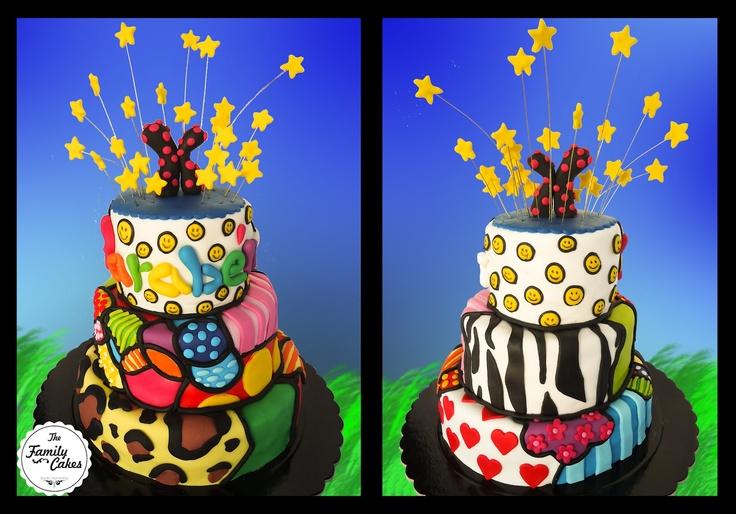 Bolo colorido / color and pattern cake