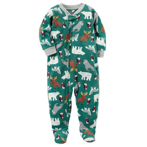 Baby Boy Carter S Winter Fleece Footed Pajamas Baby Boy Outfits Carters Baby Boys Boy Outfits