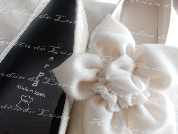Zapatos comuniones,bodas,comuniones Algodón de Luna