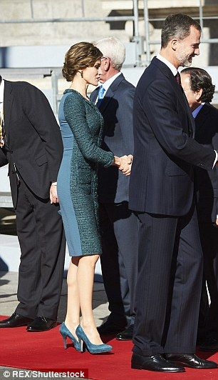 The monarch and his wife greeted dignitaries as they arrived for the official event on Thu...