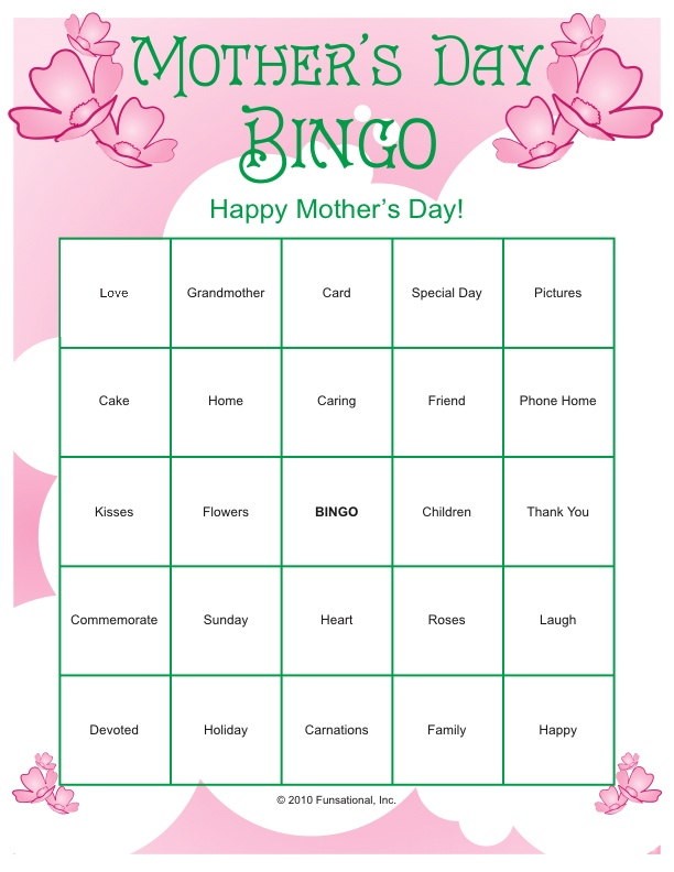 Mother's Day Printables | More Occassions Mother's Day Games