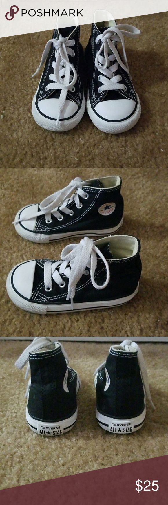 converse black high cut converse shoes for toddler size 6. great condition Converse Shoes
