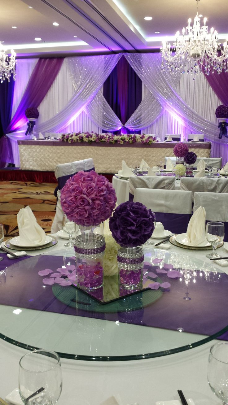 black white purple wedding reception%0A Back curtain  white Purple curtains  Black front middle curtains  red