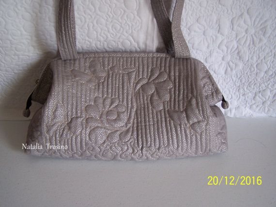 Textile quilted bag Tuscany Noon Italian by NaTrosinoQuiltForAll