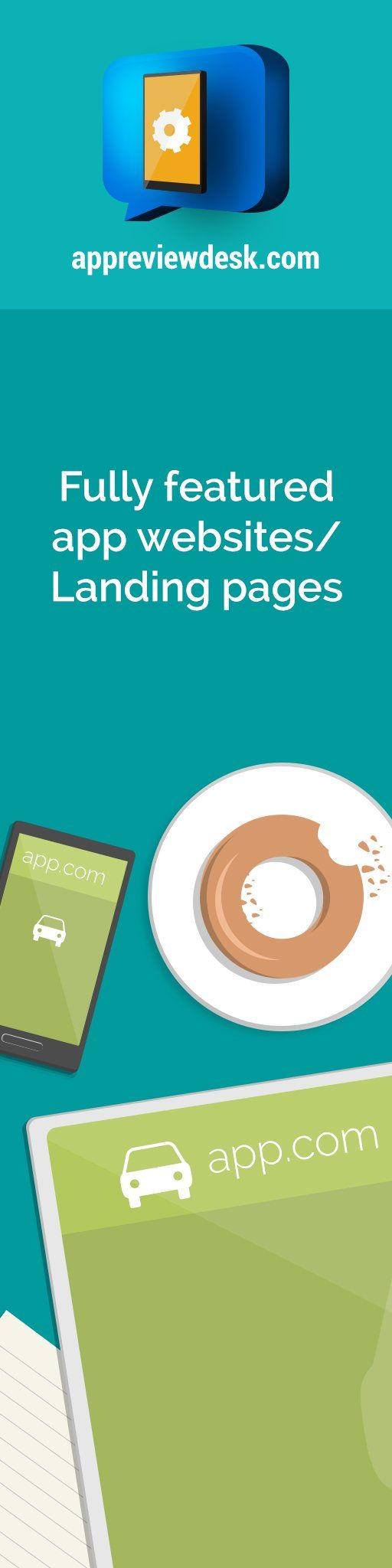 100% Free Landing pages for your app