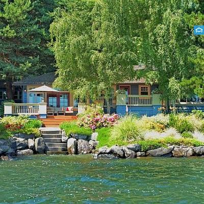 This lakefront home has been magnificently remodeled and offers style and comfort. Sitting on 3 lots w/nearly 100' of waterfront on Lake Washington! Over 3000sf w/3 br's, 3 bths and den. Bright and open floor plan, w/3 fp's and a gourmet kitchen.. All lakeside rooms open out the decks ideal for entertaining. Other amenities include: A custom-designed naturalized bulkhead w/steps to the private swim cove, a 40-ft dock, a new boat lift and a 2 car garage. Truly a breathtaking and must-see…